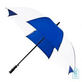 Luxe paraplu bedrukken GP-59 navy wit golf