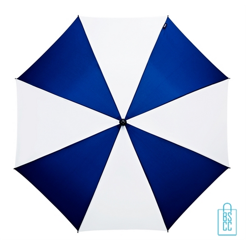 Luxe paraplu bedrukken GP-59 navy wit golf automatisch