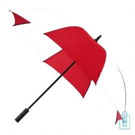 Luxe paraplu bedrukken GP-59 rood wit golf