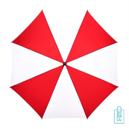 Luxe paraplu bedrukken GP-59 rood wit golf automatisch