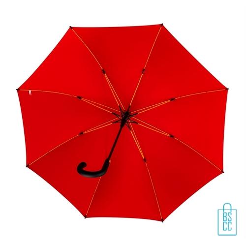 Luxe paraplu bedrukken GP-67 rood gele baleinen