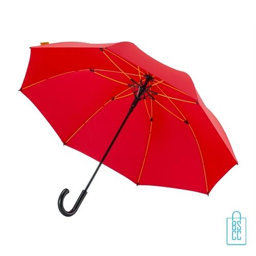 Luxe paraplu bedrukken GP-67 rood stormparaplu