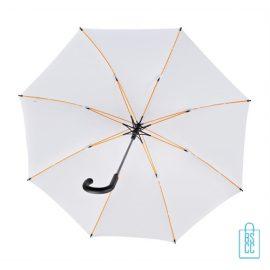 Luxe paraplu bedrukken GP-67 wit gele baleinen
