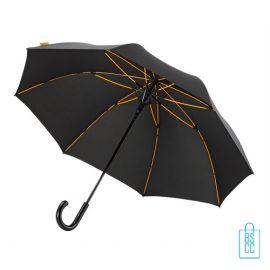 Luxe paraplu bedrukken GP-67 zwart gele baleinen