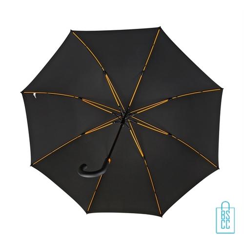 Luxe paraplu bedrukken GP-67 zwart stormparaplu