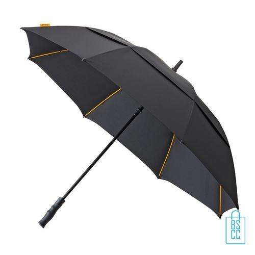 Luxe paraplu bedrukken GP-76 stevig zwart