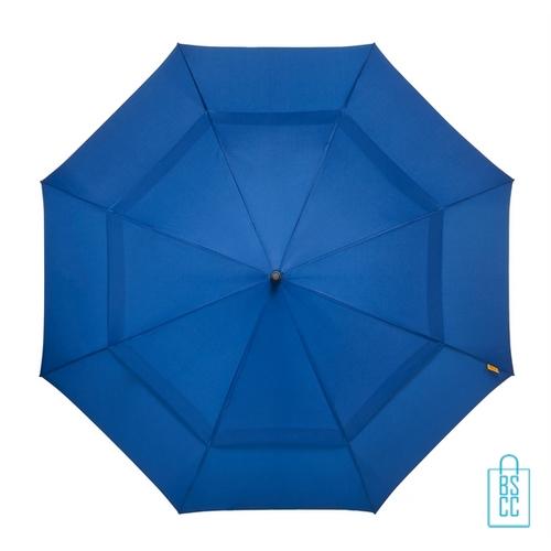 Luxe paraplu bedrukken GP-76 windproof blauw top