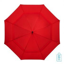Luxe paraplu bedrukken GP-76 windproof rood