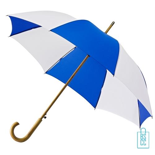Luxe paraplu bedrukken LA-18 blauw wit