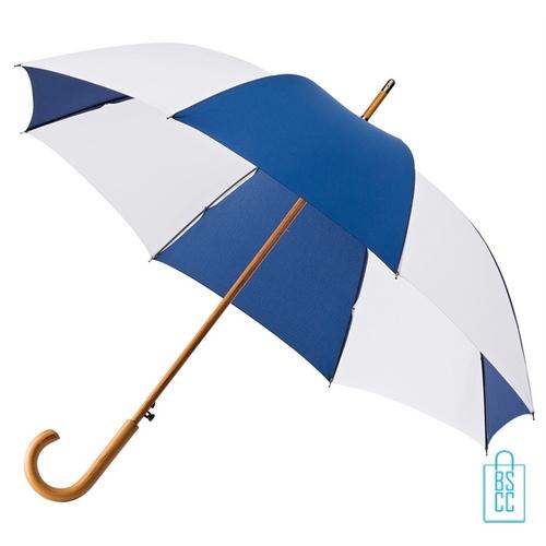Luxe paraplu bedrukken LA-18 navy wit budget