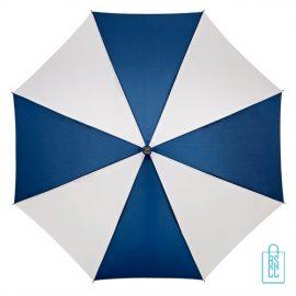 Luxe paraplu bedrukken LA-18 navy wit goedkoop