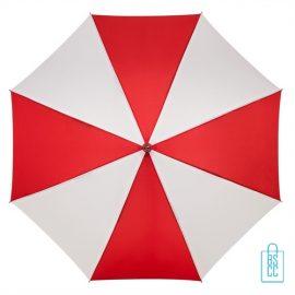 Luxe paraplu bedrukken LA-18 rood wit goedkoop