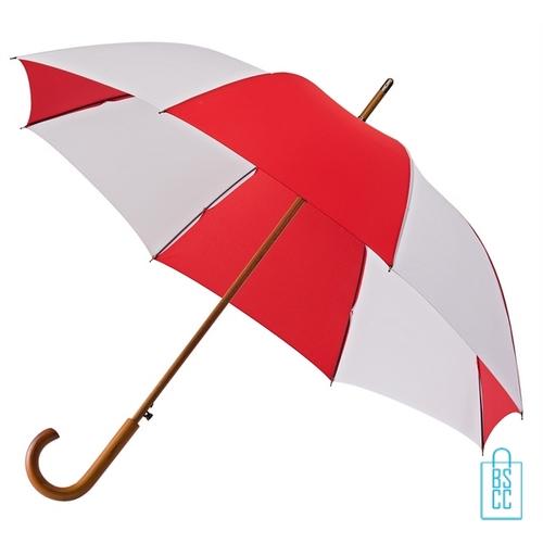 Luxe paraplu bedrukken LA-18 rood wit