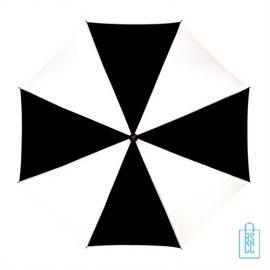 Luxe paraplu bedrukken LA-18 zwart wit goedkoop