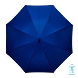 Luxe paraplu bedrukken regendruppel GP-54 blauw