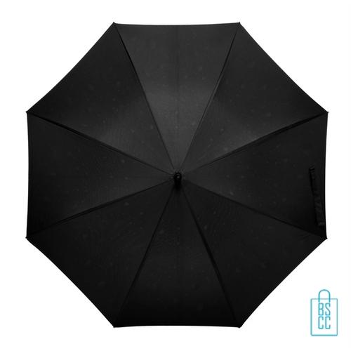 Luxe paraplu bedrukken regendruppel GP-54 zwart top