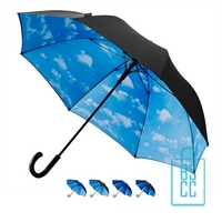 Luxe paraplu bedrukken regendruppel wolk motief GP-54