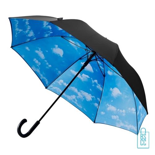 Luxe paraplu bedrukken wolk regen GP-54 budget