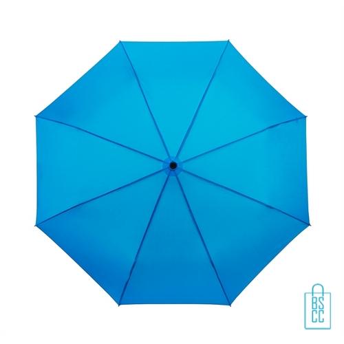 Opvouwbare paraplu bedrukken LGF-209 blauw processed blue