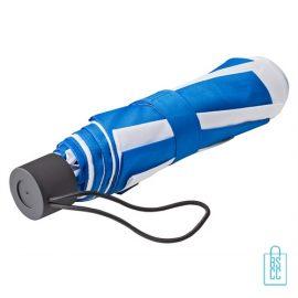 Opvouwbare paraplu bedrukken LGF-210 blauw wit goedkoop