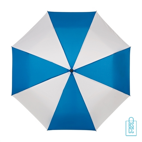 Opvouwbare paraplu bedrukken LGF-210 blauw wit windproof