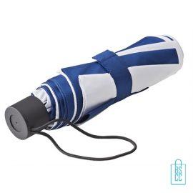 Opvouwbare paraplu bedrukken LGF-210 navy wit goedkoop