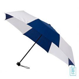 Opvouwbare paraplu bedrukken LGF-210 navy wit windproof
