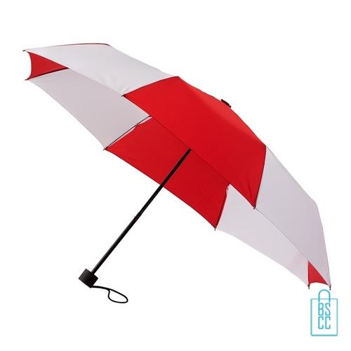Opvouwbare paraplu bedrukken LGF-210 rood wit goedkoop