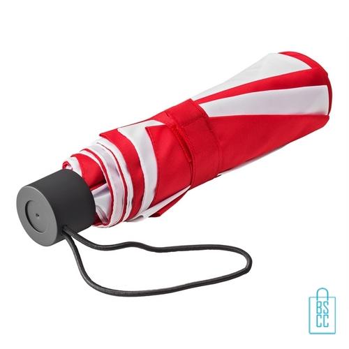 Opvouwbare paraplu bedrukken LGF-210 rood wit