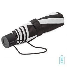 Opvouwbare paraplu bedrukken LGF-210 zwart wit goedkoop