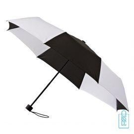Opvouwbare paraplu bedrukken LGF-210 zwart wit windproof