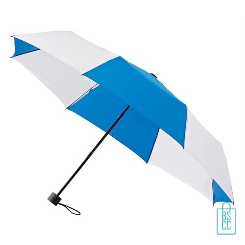 Opvouwbare paraplu bedrukt LGF-210 blauw wit goedkoop