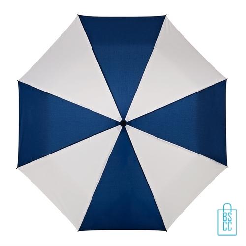Opvouwbare paraplu bedrukt LGF-210 navy wit