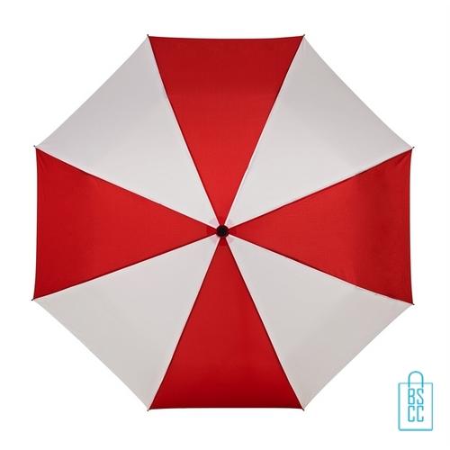 Opvouwbare paraplu bedrukt LGF-210 rood wit
