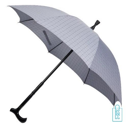 Wandelstok paraplu bedrukken WS-01P assorti goedkoop