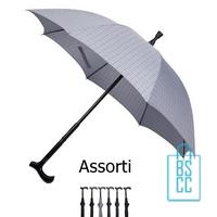 Wandelstok paraplu bedrukken WS-01P assorti