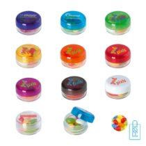Rond transparant snoep potje jelly beans bedrukken