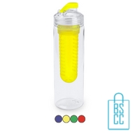 Bidon fruit filter 700ml bedrukt compartiment transparant