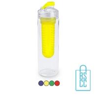Bidon fruit filter 700ml bedrukt compartiment transparant