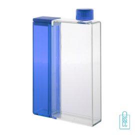 Bidon rechthoek duo waterfles bedrukken blauw