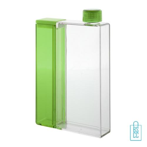 Bidon rechthoek duo waterfles bedrukken groen