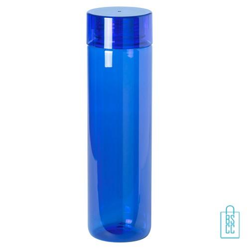 Bidon transparant modern 780ml bedrukt blauw