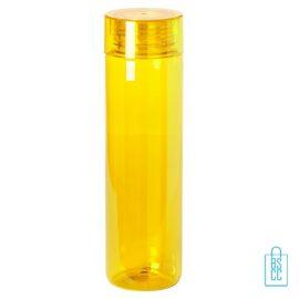 Bidon transparant modern 780ml bedrukt geel