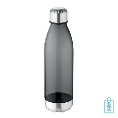 Drinkfles tritan 600ml bedrukken grijs