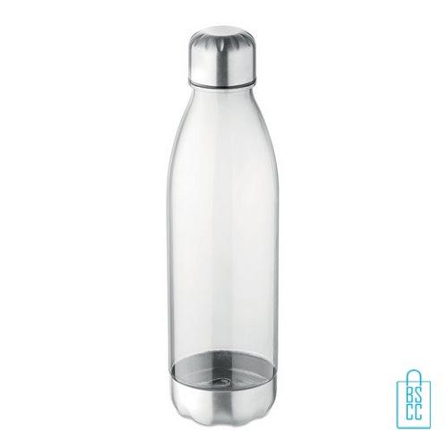 Drinkfles tritan 600ml bedrukken transparant wit