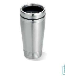 Koffiebeker metaal 400ml bedrukt met logo