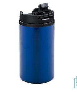 Reisbeker goedkoop klein 280ml bedrukt blauw