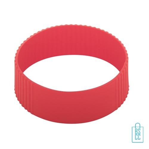Reisbeker goedkoop multicolor bedrukken silliconen band rood