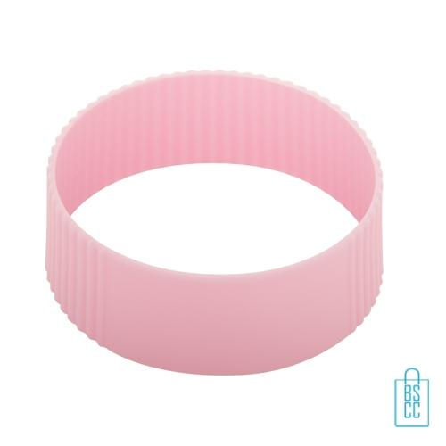 Reisbeker goedkoop multicolor bedrukken silliconen band roze