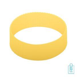 Reisbeker goedkoop multicolor bedrukt geel